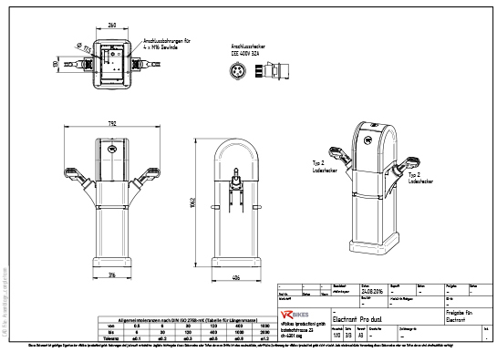 Installation drawing ELECTRANT pro dual download as a PDF.