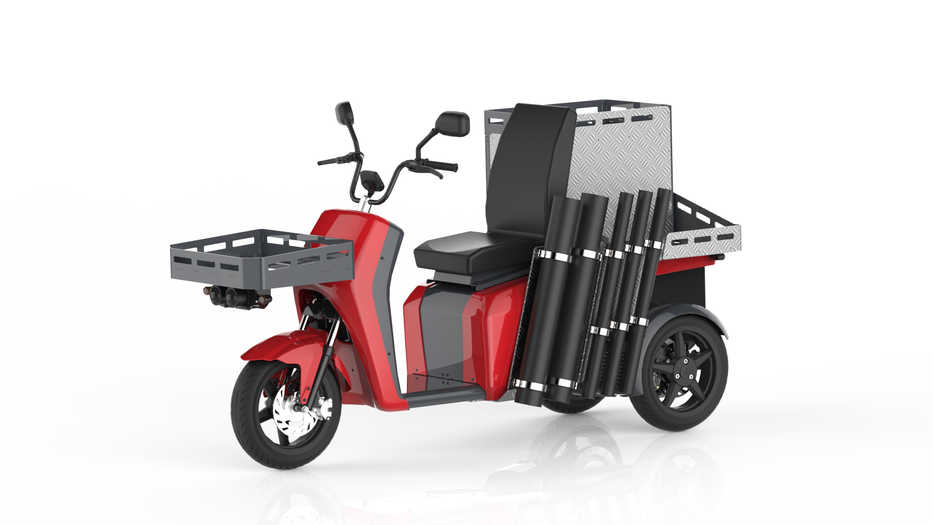 The vR3 electric tricycle as a service vehicle for civil engineering works