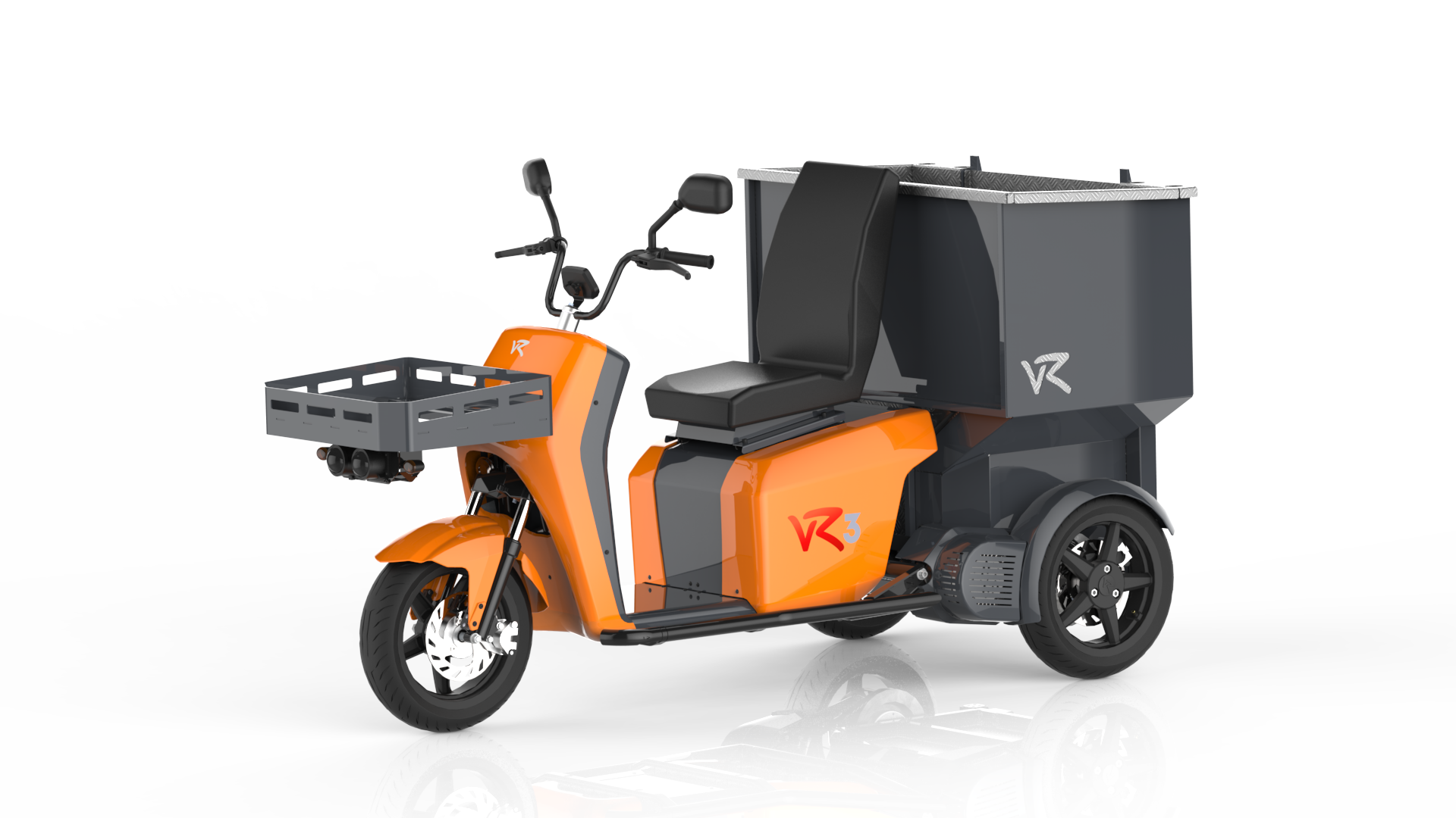 The vR3 electric tricycle as a municipal vehicle with multi-purpose container