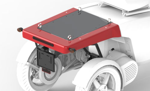 Light rear module for the vR3 electric tricycle